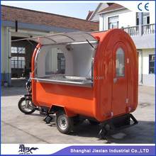 factory direct sale mobile bike food cart with CE approval