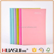 Chinese custom colorful recycled cardboard stitch school stationery