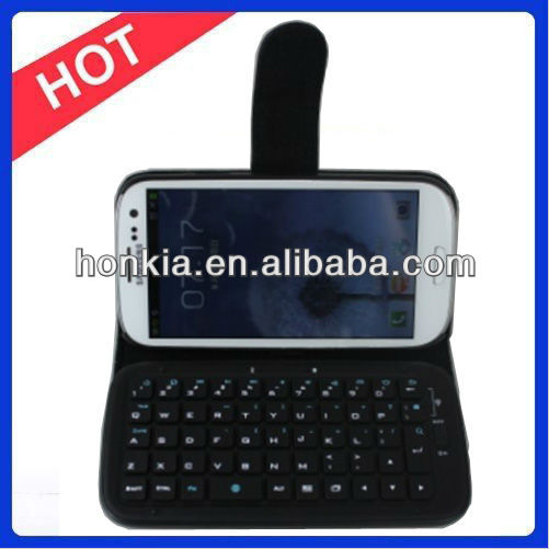 The Leather Case Detachable Bluetooth Keyboard Designed for I9300