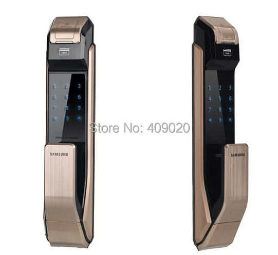 2015 Samsung SHS-P718 Fingerprint Digital Door Lock / Push Pull Door Lock golden color