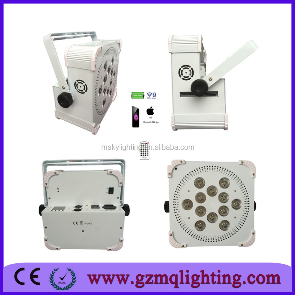 12pcs *18W wireless irc led decoration light for wedding for hotel,bar,home,sexy hot girl club