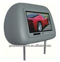 good quality 7.0 inch TFT LCD headrest monitor with pillow SD solt remote control