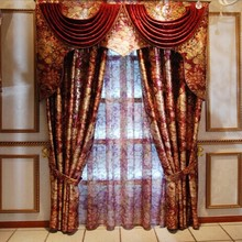 Tender And Noble Gold Cutting Motif Cationic Polyester Curtain
