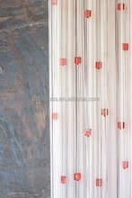 Modern style square beaded string metal curtain