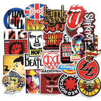 Band Stickers Pack Rock Roll Decals Laptop Cars Guitar Vinyl Waterproof Graffiti Stickers