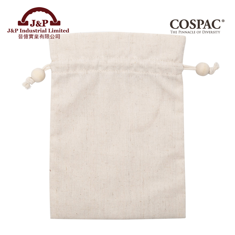 OEM China Supplier Wholesale Organic Cotton Fabric Promotional Drawstring Bag