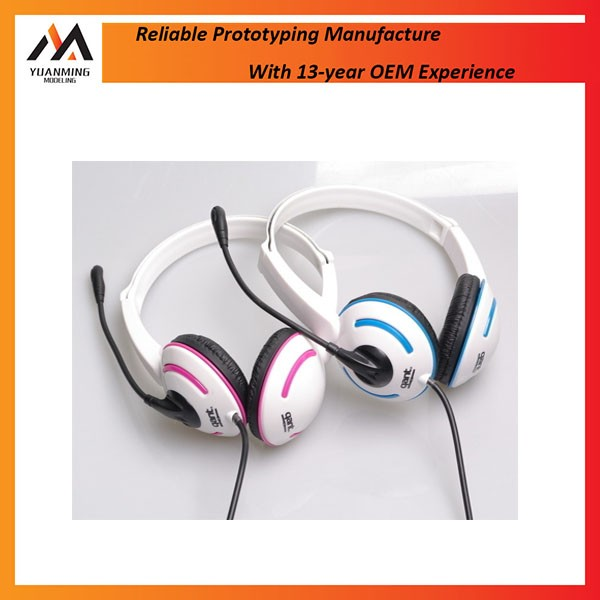 High quality low cost 3D SLS/SLA/FDM headphone rapid prototypes