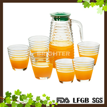 7pcs Fashion Design Glass Water Jug Set For Promotion