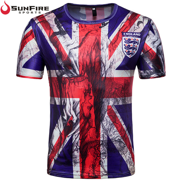 2018 Russia football world cup sublimation soccer England fans custom sports t shirt