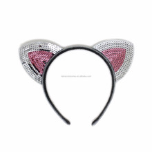 Sequin Cat Ear Headband, Sequin Hairband