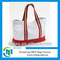 long handle strap lady custom printed canvas tote bags