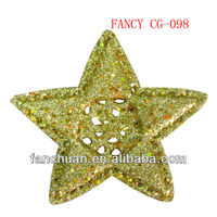 fashion mini plastic christmas star figurine