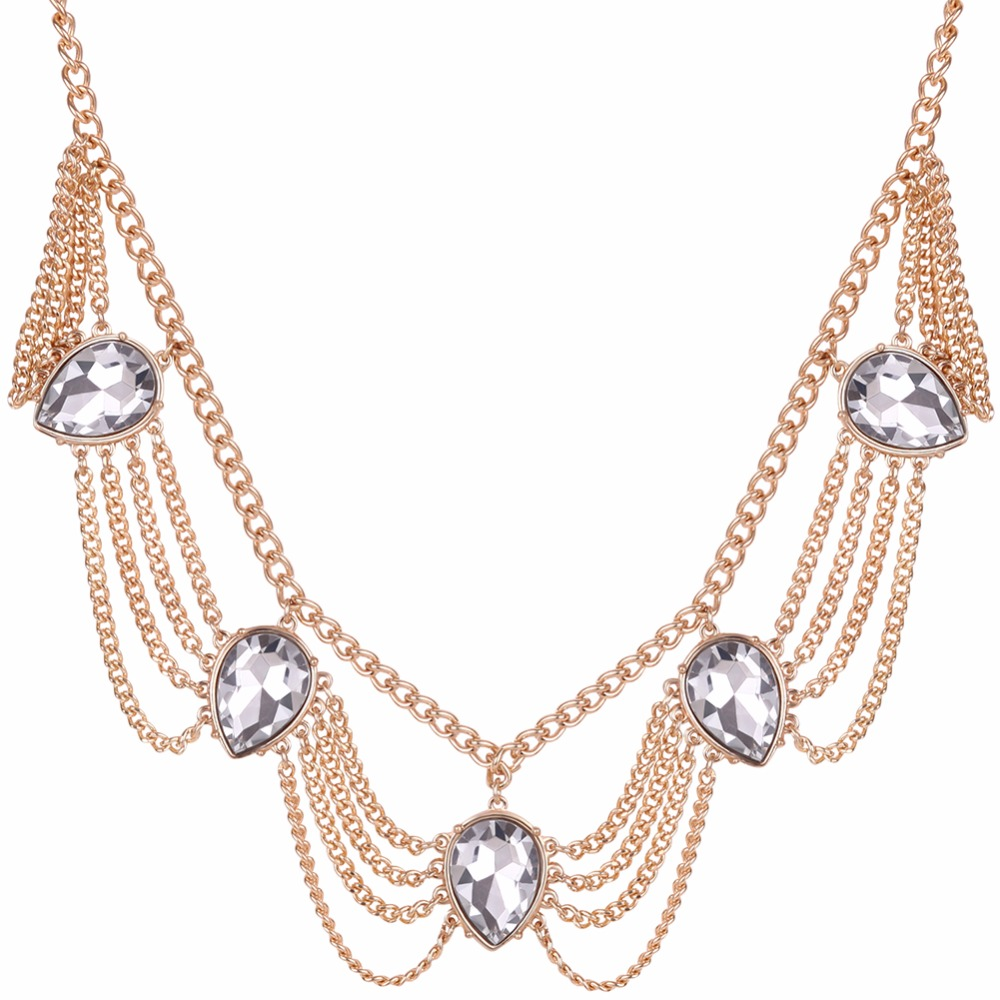 New Design Fashion Crystal Necklaces Women Luxury ...