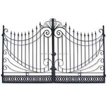 luxury wrought iron double gate metal piato gate antique steel gate