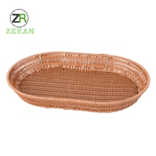 Imitation rattan high quality supermarkets display big wire baskets