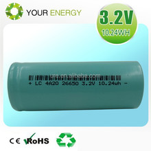 Shenzhen factory selling 26650 3000-3400mah lifepo4 lithium battery inspected by PHILIPS company