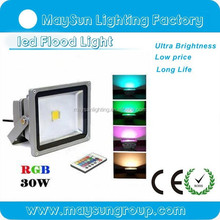 outdoor led flood light color changing RGB low voltage 30W led flood lights for outdoor light