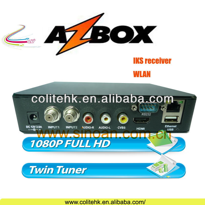 2014 New Original Bravissimo Azbox,Twin tuner AZBOX Bravissimo Decode Nagra3 With Genuine Sks/Iks Account