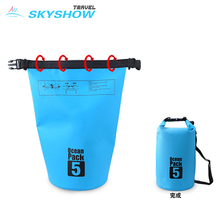 Outdoor Camping Flexible Waterproof Fishing Dry Bags For Swimsuit