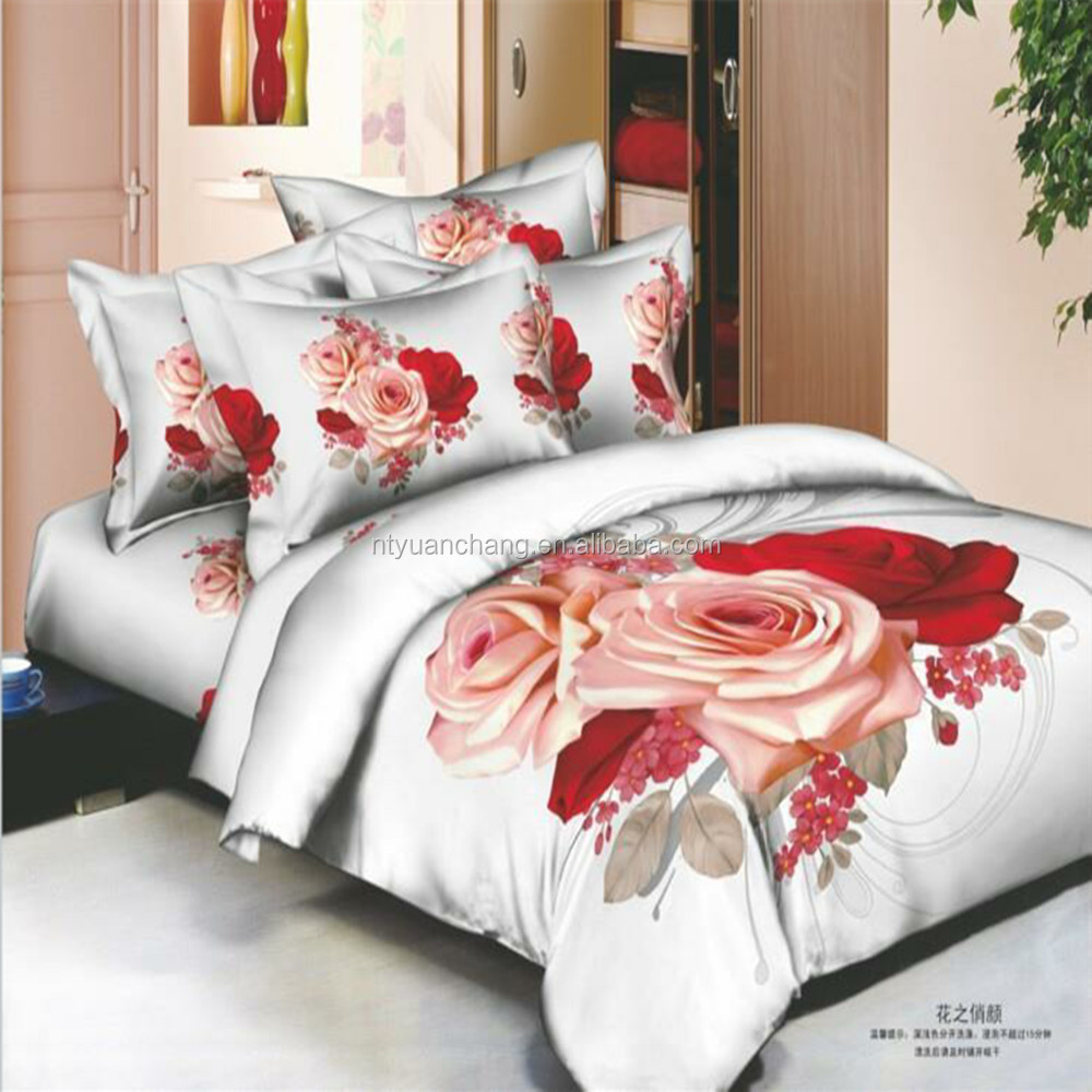 polyester 3d flower bedding set bed sheet cover made in china for isreal