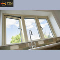 white aluminum alloy double tempered glass casement window