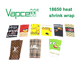 wholesale Authentic heat shrink cartoon wrap Ecig accessories Vapcell vape 18650 battery wraps