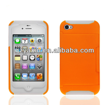 Phone add case for iphone4 4s,Hot fashion credit card slot case for iphone 4