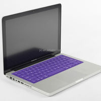 Ultra-Thin Solid colors silicone laptop keyboard covers skins protector for Macbook
