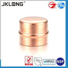 J9510 solder ring end cap branch pipe copper pipe fittings,crimp fittings end cap