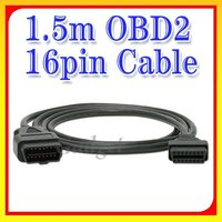 OBDII 16Pin Male to Female Extension Cable 1.5m OBD2 OBDII Female Adapter Cable Diagnostic OBD/OBD2 Car Scanner
