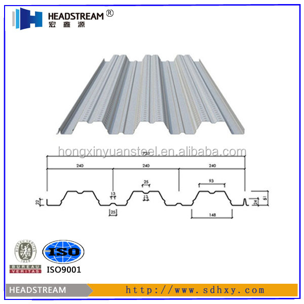 Galvanized corrugated steel sheet roofing decking / galvanized metal floor decking sheet / steel floor decking sheet prices