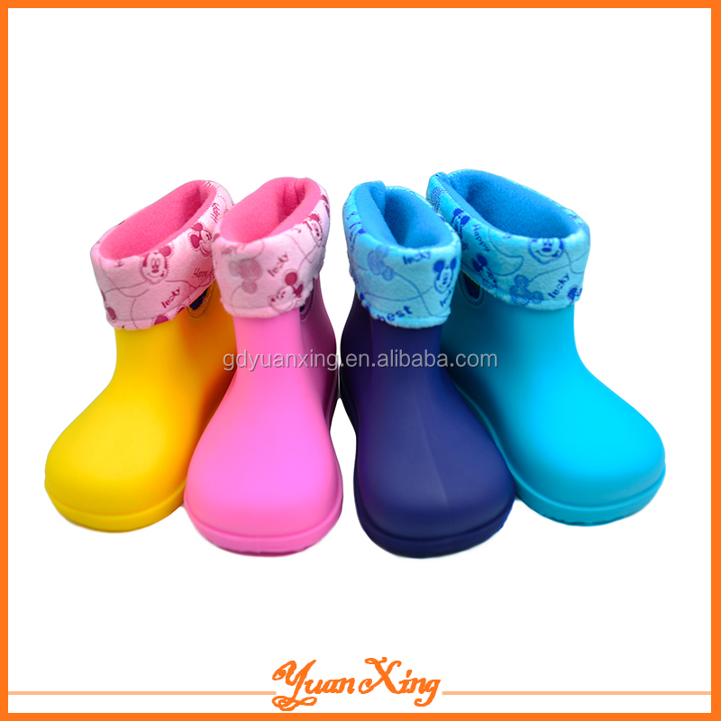 Kids Fur Boots PVC Rain Boot Shoes Kids Winter Boot
