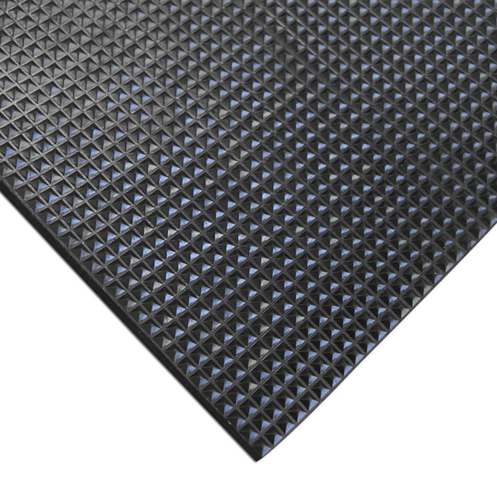 Great Wall Hardenss 70 Duro Black Pyramid Rubber Sheet Anti slip rubber Mat 3.2mmx 0.6m x 5.5m Long