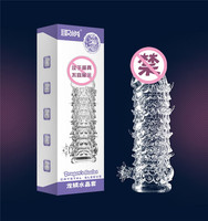 Reusable Crystal Spike condom sex toys 45g TPE PVC box penis enlargement Condoms
