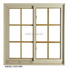 Exterior double panels pvc sliding window/casement window/fix pvc windows with window grill design