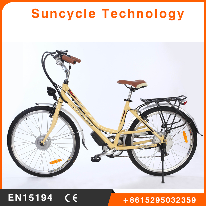 Suncycle china flying pigeon e bicycle high quality electric city bicycle en 15194