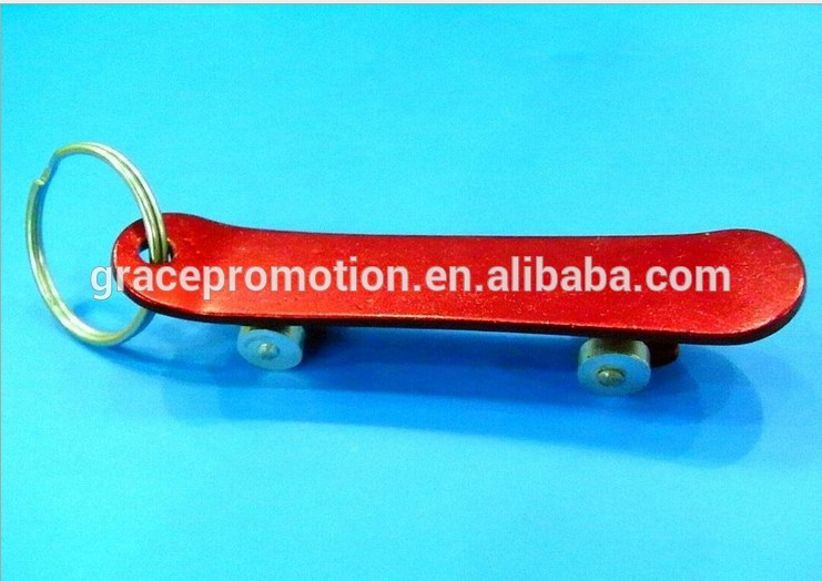 aluminium skate board shape Metal Bottle Opener Keyring for factory direct suppliers
