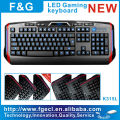 professional multimedia led backlight gaming keyboard