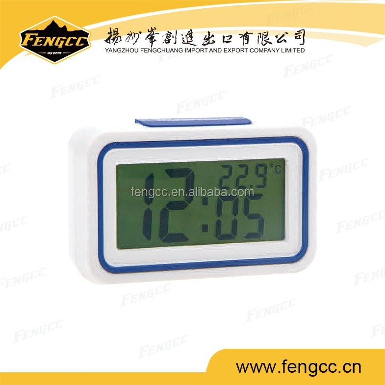 2016 promotion plastic digital desk LCD digit Alarm clock