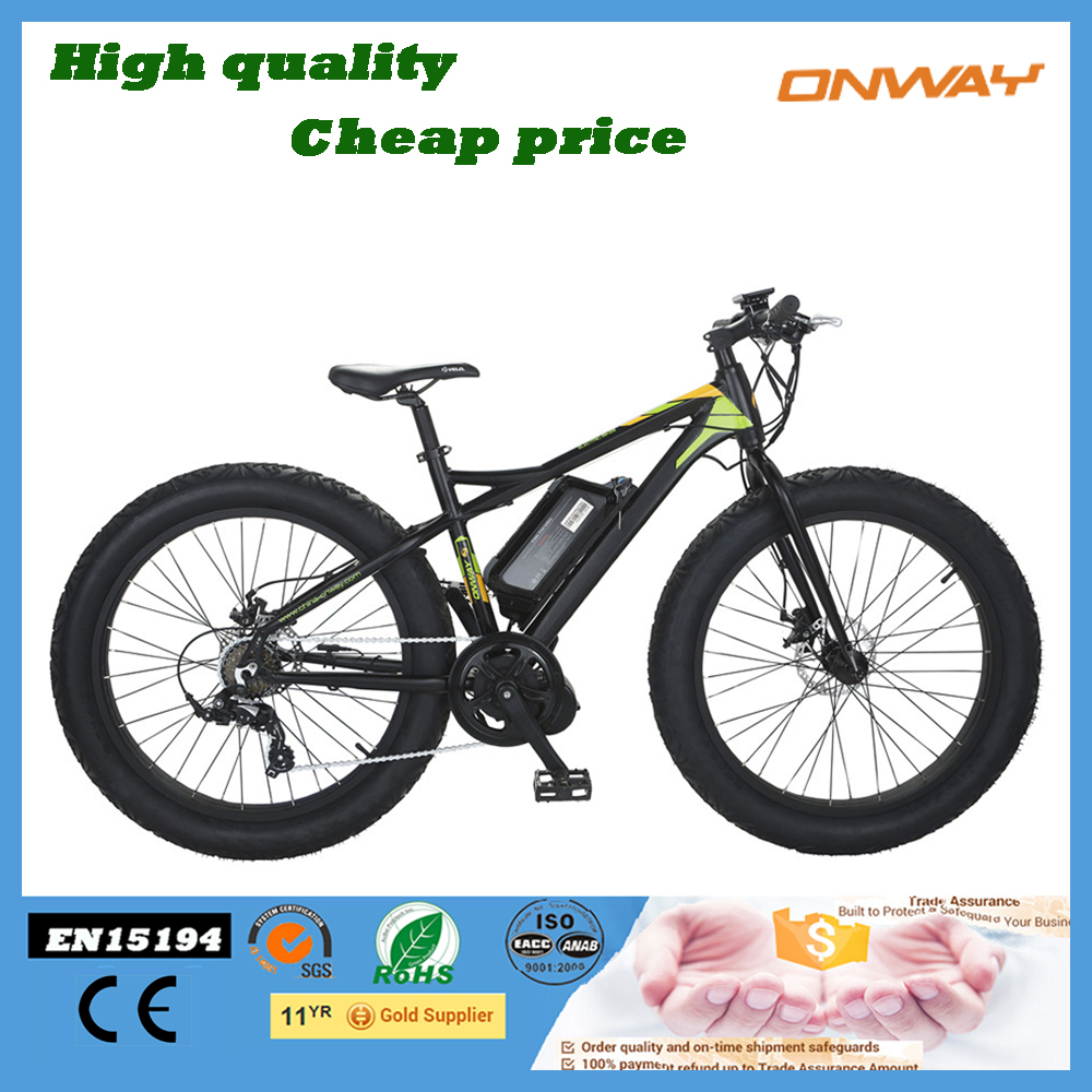 High power fat tire electric bike with CE EN15194 beach sport e cycle