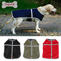 Pet Clothes Water Resistant Winter Dog Rain Coat Jacket Two sides wear Reversible