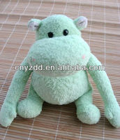 toy hippo/green hippo plush toy/hippo soft toy/stuffed toy hippo