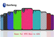 Hot Selling Waterproof Bling Diamond PC Silicone Phone Cases For HTC Desire 626