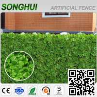 wall decoration natural artificial green leaves panel for garden