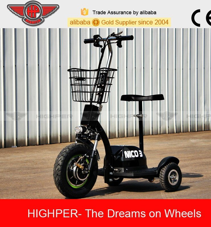 3 wheel 500 W 48v electric tricycle scooter for adult or old