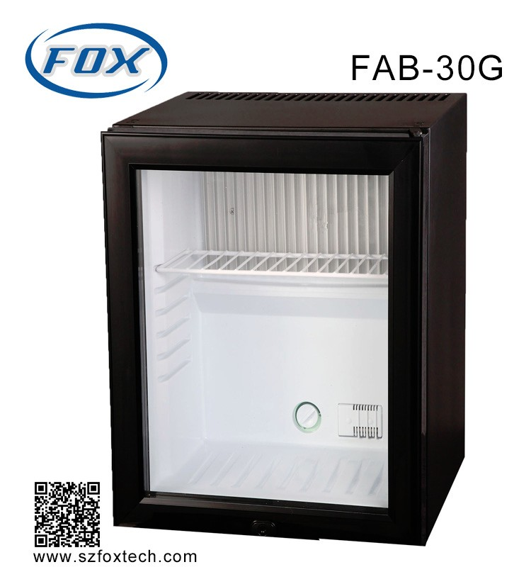 30L high quality glass door hotel fridge from FOX Technology