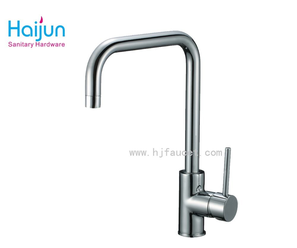 Single hole chrome surface finished kitchen water tap(82H33-