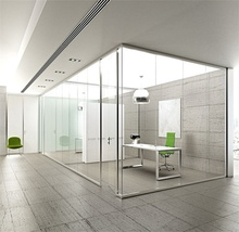 Foshan furniture office full height glass cubicle wall partition wall price malaysia