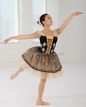 MB0089 Adult black stage competiton dance wear ballet tutu dress