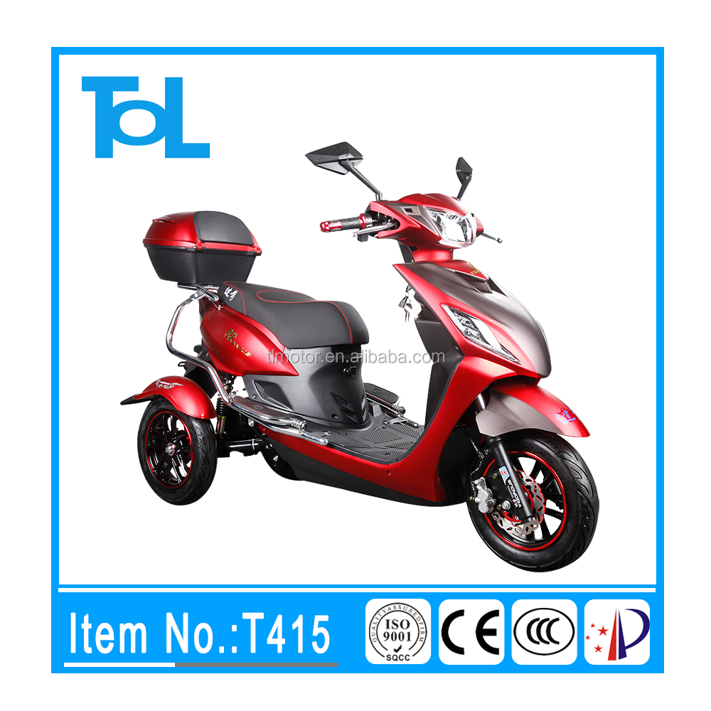 electric tricycle used CE approved 500W 48V 3 wheel electric double seat mobility scooter